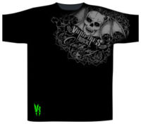 Vampires Rock Shoulder Print T Shirt