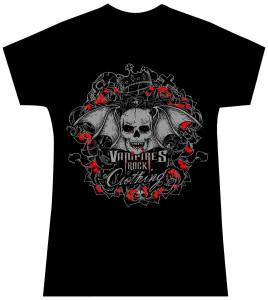 Womens Vampires Rock T Shirt