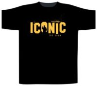 Iconic T Shirt Yellow Logo on Chest