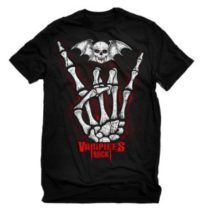 Vampires Rock Devil Horns T Shirt Unisex