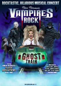 Vampires Rock ghost train poster